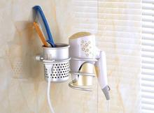 New Arrvial!! Wall Mounted Hair Dryer Drier Comb Holder Rack Stand Set Storage Organizer New Excellent Quality