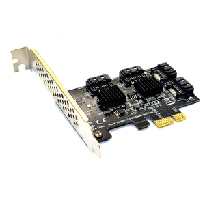 Image 3 - 4 port SATA 3.0 to PCIe expansion Card PCI express PCI e SATA Adapter PCI e SATA 3 Converter with Heat Sink for PC IPFS SSD HDD