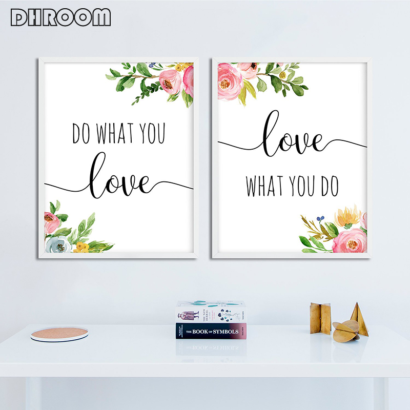 Do What You Love Love What You Do Poster Print Wall Art Motivational Quote Canvas Picture Painting Decorative for Living Room image