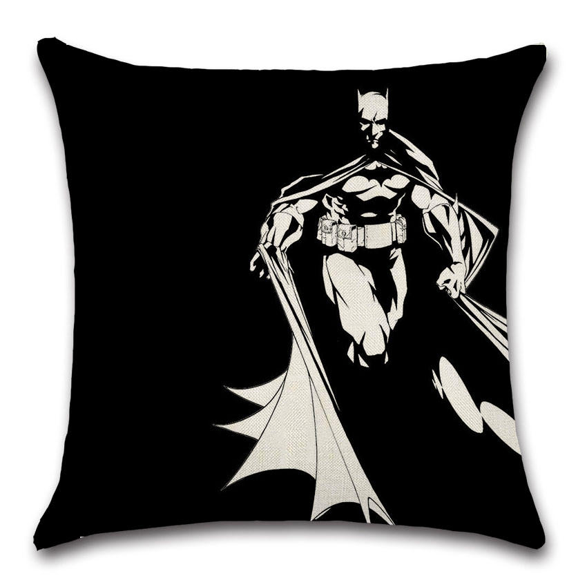 Movie comic batman sign mark cushion cover Pillow case sofa car Chair Decoration for home kids boy bedroom gift friend present