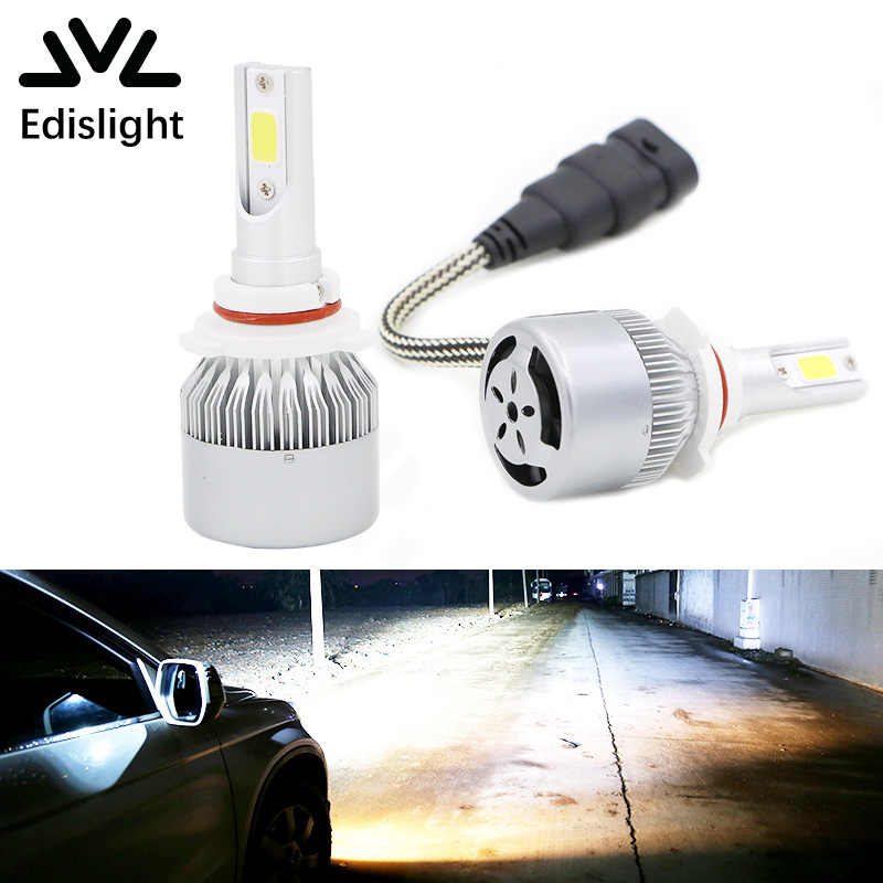 Edislight 72W 7600LM 9006 HB4 LED Headlight Kit Low Beam Bulbs For 1999-2006 Chevrolet Silverado 1500 White Car Light Headlamp