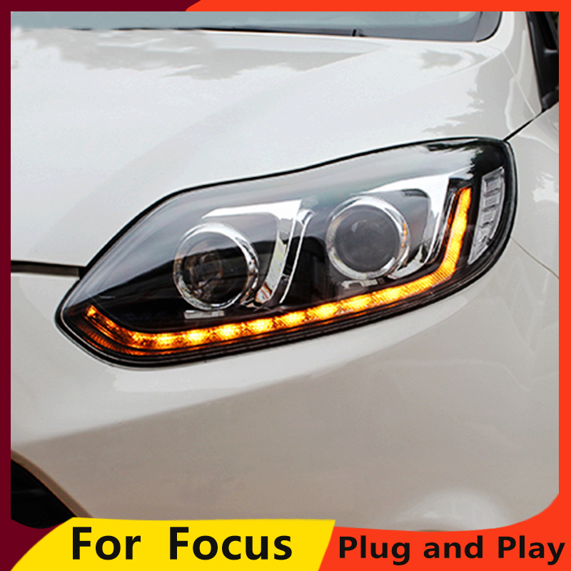 KOWELL Car Styling Headlights for Ford Focus 2012 2014 LED Headlight for Focus Head Lamp LED