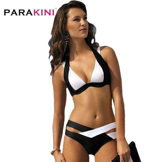 9f12b78dfd4 PARAKINI Sexy Bikinis Women Swimsuit 2018 Summer Beach Wear Bikini Set Push  Up Bandage Swimwear Plus Size XL Bathing Suits