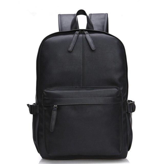 883019301b9f 3 цвета PU большие пространства кожаные мужские рюкзаки мужские  повседневные Молодежные для школы сумки на плечо