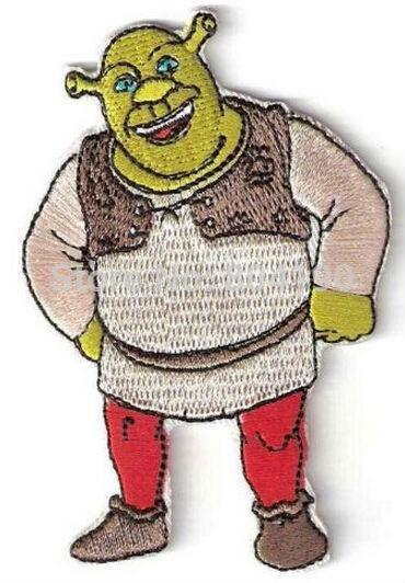 Shrek Funny Cartoon Character Tv Movie Animated Costume Embroidered