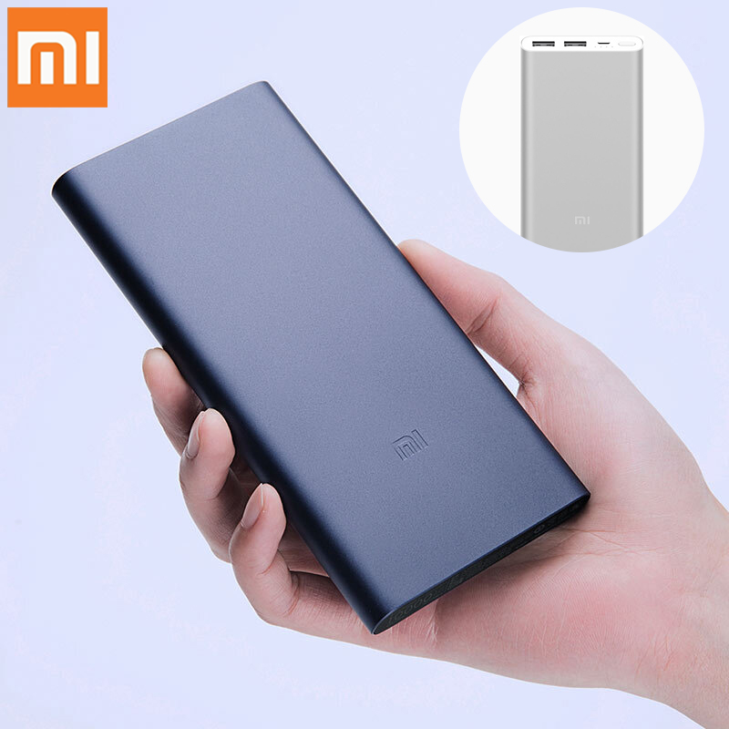 10000mAh Xiaomi <font><b>Mi</b></font> <font><b>Power</b></font> <font><b>Bank</b></font> 2i External Battery <font><b>Bank</b></font> 18W Quick Charge Powerbank <font><b>10000</b></font> PLM09ZM with Dual USB Output for Phone image