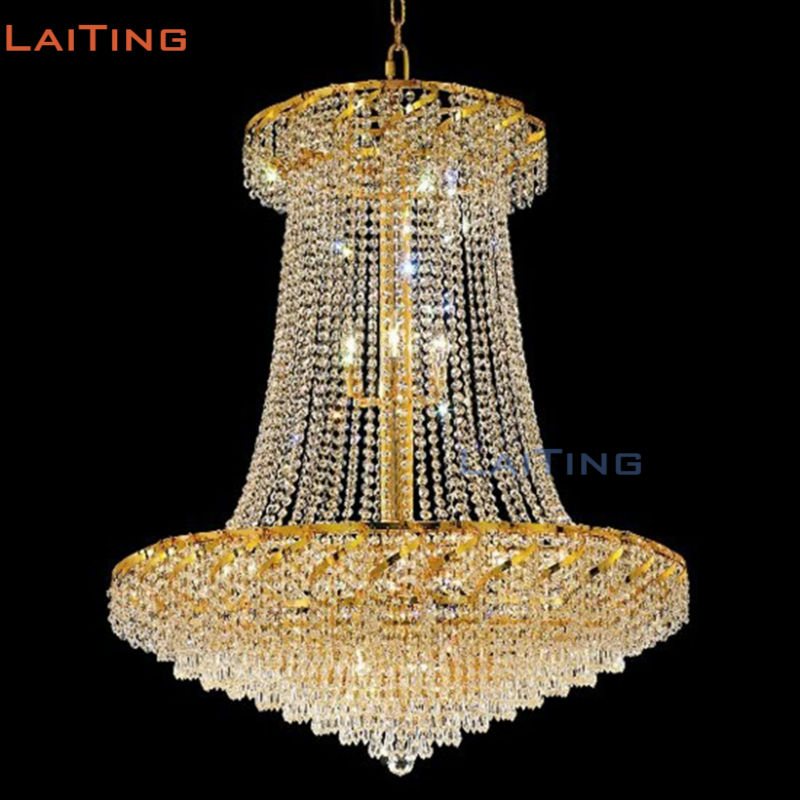 LAITING Dia 80cm Egypt Dining Room Crystal Chandeliers Gold Lustre De Cristal Illumination Interior Decoration LT-71028 sale xlr earphone pin adapter for jh audio jh24 for roxanne iriver r03 akr02 ln005420 clear black