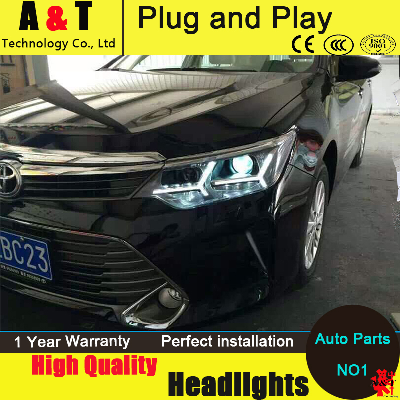 Auto Lighting Style Head Lamp For New Camry Led Headlight Embly 2017 2016 Toyota Drl H7 With Hid Kit 2pcs