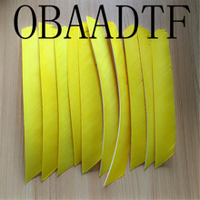 50pcs Yellow Full Length Real Turkey Feather For Archery Hunting And Shooting Arrow Fletching Hot Sale