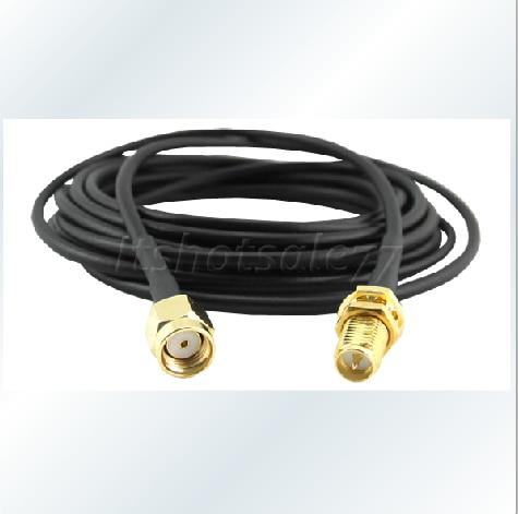 10M WIFI кабел RP-SMA женски към SMA мъжки - Комуникационно оборудване - Снимка 1
