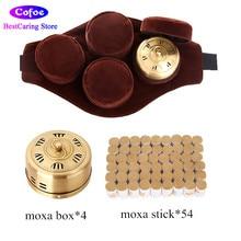 Cofoe Murni tembaga moksibusi kotak portabel moxa gulungan tongkat kotak burner portabel moxa kerucut untuk tanpa asap akupunktur aromaterapi