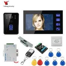 Yobang Security 7inch RFID Access Door Camera With Electric Control Door Lock Video Camera Monitor with IR Camera doorphone