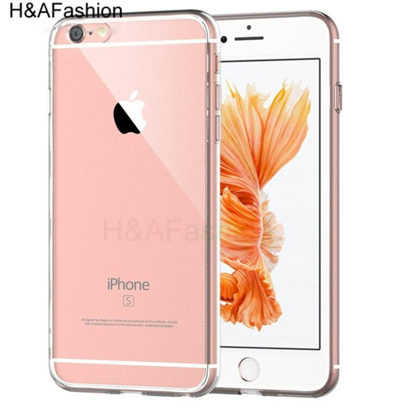 H & Afashion Transparante Telefoon Case Voor iPhone 6 6 s 7 8 Plus Ultra Thin Clear Soft TPU Siliconen cover Cases Voor iPhone 8 7 6 Plus