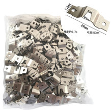 50pcs! Wall Mount hanging picture display Hardware metal hanger for frames Oil Painting Cross-stitch Photocraft Poster Hook(China)