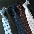 (1 шт./лот) 2016 cravate для мужчин 8 см полька пунктирные галстуки мужские галстуки темно-точка галстук в горошек красный белый синий серый