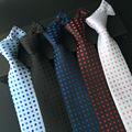 ( 1 pieces/lot) 2016 cravate for men 8 cm polka dotted neckties men's ties navy dot tie polka dots red white blue grey