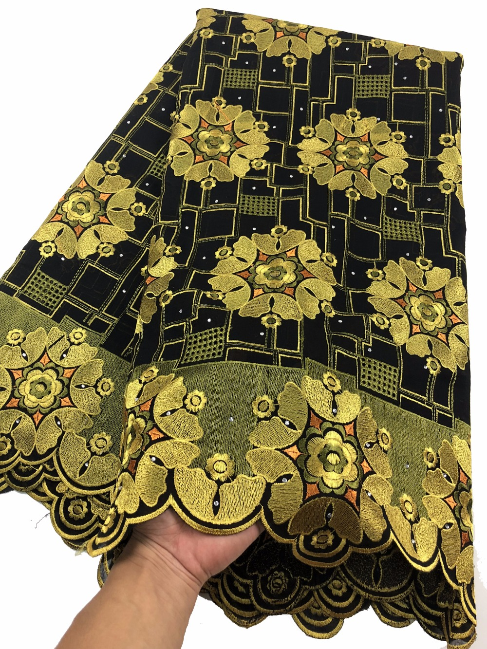 2018 African Lace Fabric High Quality 100 Cotton Lace Swiss Voile Lace Swiss Voile Lace In