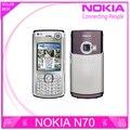 Восстановленное в Исходном Nokia N70 разблокирована сотовые телефоны bluetooth mp3 плеер fm-радио GPRS Оптовая Гарантия Один Год бесплатная доставка