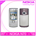 Refurbished Original Nokia N70 cell phones unlocked bluetooth mp3 player FM radio GPRS Wholesale One Year Warranty free shipping