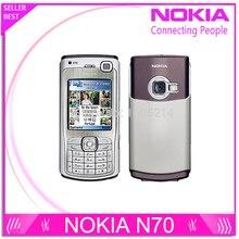 Refurbished Nokia N70 handys entsperrt bluetooth mp3 player FM radio GPRS Großhandel Ein Jahr Garantie freies verschiffen