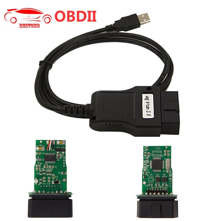 Prix pour VAG K PEUT Commandant 3.6 VAG K + CAN Commander 3.6 OBD2 Diagnostique De Voiture câble De Diagnostic Interface USB pour VW/AUDI/SKODA/SEAT