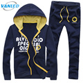 Men Sweatshirt Pants Set 2017 Spring and winter Sportswear Joggers Sportwear Tracksuit Men Sporting Suit M- 4XL Plus Size
