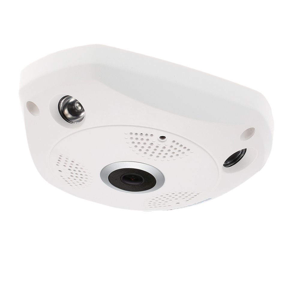 3mp рыбий глаз панорамная Ip камера VR Cam Smart 360 градусов беспроводной детектор движения 128 ГБ бортовой записи, IR 35ft Smart App - 5