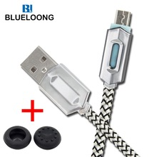blueloong micro usb cable 3 m for PS4 Controller and android cavo usb per xiaomi htc lg samsung