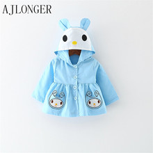 Spring Autumn Girls Jacket Cartoon Cotton Baby Girl Coat Children Jackets Kids Clothing