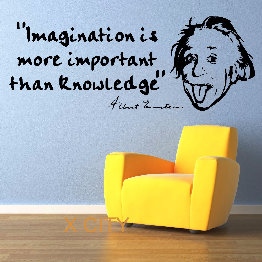ALBERT EINSTEIN Well Know Quote Wall Art Room Sticker Decal Door Window  Stencils Mural Decor S M L In Wall Stickers From Home U0026 Garden On  Aliexpress.com ...