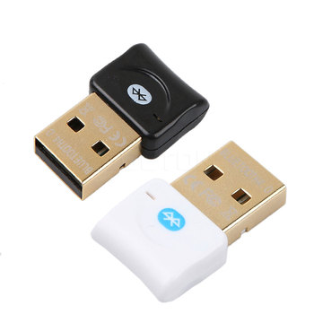 KEBETEME Dongle Bluetooth Adapter Mini USB Bluetooth 4.0 Dual Mode Wireless Gold plated connector Audio for Laptop PC Win Xp 7 8