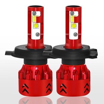 2 X H4/9003/HB2 Hi/Lo Automobiles Headlight Bulb Mini7 LED 30W 4800LM 9V-36V IP68 Waterproof 6000K Cold White 6063 Aluminum