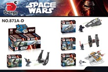 4Pcs Star Wars First order Special Forces TIE Fighter Kylo Ren's Command Shuttle Model Building Kits Blocks Toy