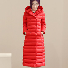 High Quality Down & Park 2016 Autumn Winter Coat Women Warm White duck down Jackets Double Breasted Long Coat  MT101