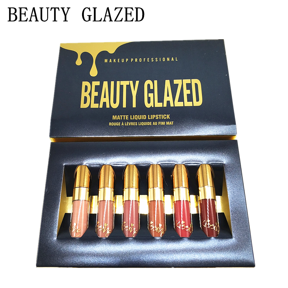 Beauty Glazed Rouge A Levre Mat Liquid Lipstick Set Velvet