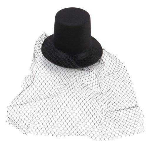 Neueste Kollektion Von 2017 Neue Schwarz Mini Hut Schleier Clips Partei Lolita Cosplay Kostüm 100% Original