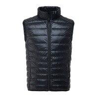 2017 New Winter Duck Down Vest Men Sleeveless Windproof Jacket Casual Ultralight Waistcoat Male Slim Vest