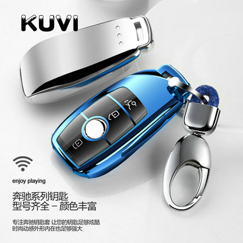 Ful TPU New Car Key Cover Case Shell Bag Protective Ring For Mercedes Benz 2017 E Class W213 2018 S class Accessories