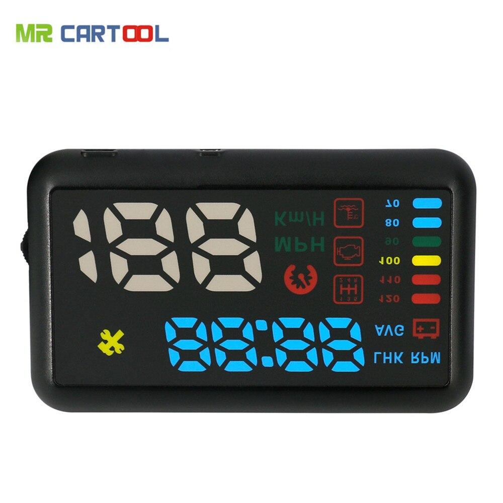 imágenes para AUTOOL X200S Universal Car HUD Head Up Display KM/h MPH Parabrisas Del Vehículo Del Proyecto de Alarma de Exceso de velocidad Velocímetro