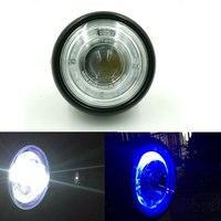 Black Motorcycle Headlight For Harley /Bobber /Chopper /Touring Chrome Motorbike Led Headlight Moto Fog Light
