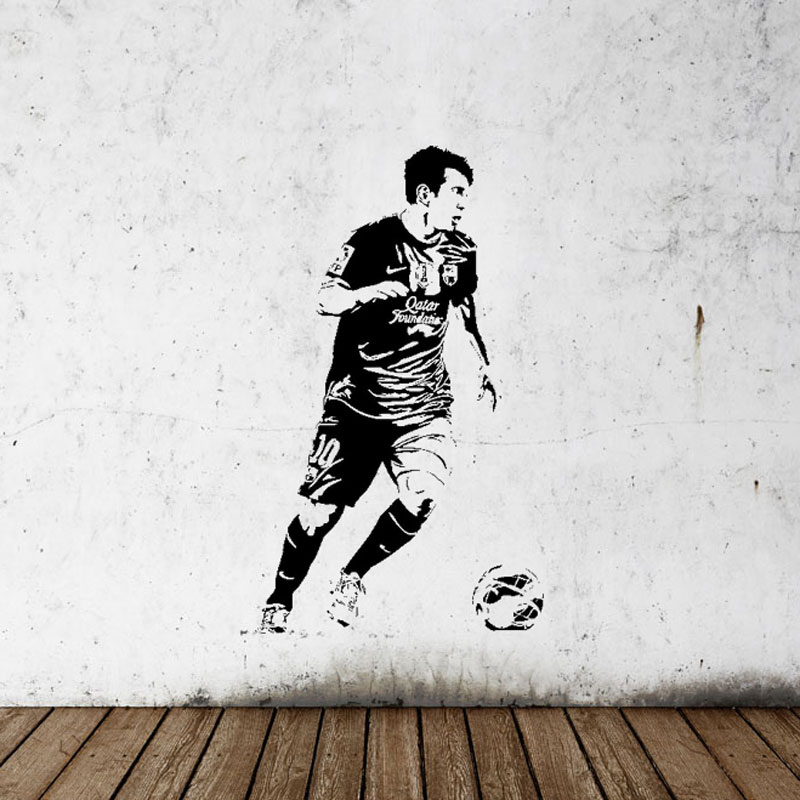 soccer stars SPORT GYM poster  home decoration decal vinyl wall - Home Decor - Photo 4