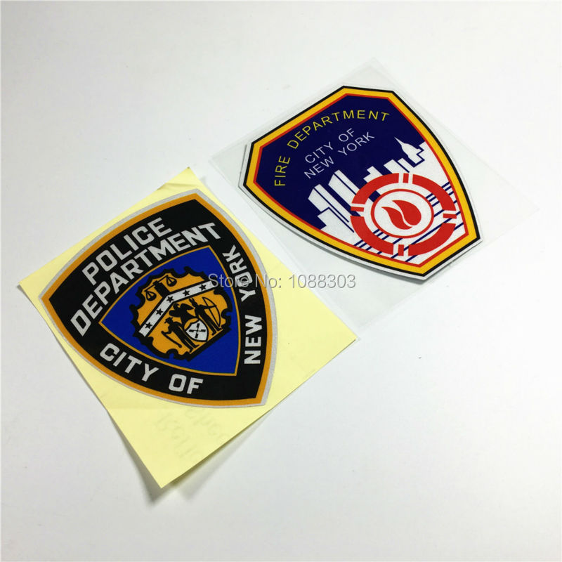 Qualified Car Styling Vinyl Tape Motorcycle Helmet Car Sticker Decals For Fire Department America City Of New York To Be Highly Praised And Appreciated By The Consuming Public