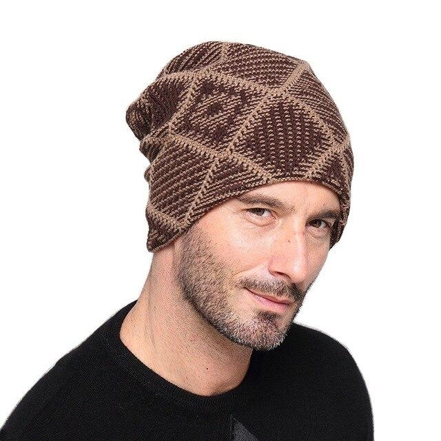 Unisexe Automne Hiver Chaud Bonnets Chapeaux pour Hommes Femmes Laine  Tricoté Casquettes Turban Bonnet Femme Homme 0398f53a33b