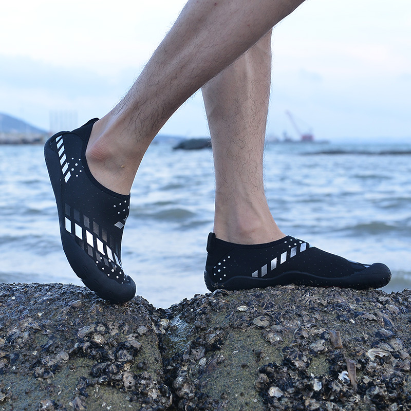 Bjakin Five Finger Men Sport Water Shoes Breathable Black White Beach Water  Flats Crashworthy Man Aqua Sneaker Big Size 46-in Upstream Shoes from Sports  ... bb503a439f5a