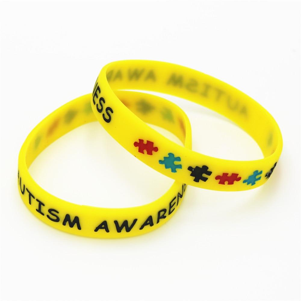 1 Stück Gelb Autismus Awareness Puzzle Silikon Armbänder & Armreifen Medical Alert Bunte Silikon Armbänder Für Erwachsene Größe Sh075y Jahre Lang StöRungsfreien Service GewäHrleisten