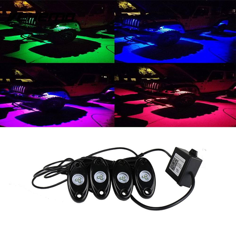 Vehemo 3000lm Сид RGB В постоянного тока 9-32В Лампа света автомобиля тележки автомобиля Водонепроницаемый рок света СИД