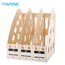 TIANSE document trays file holder storage for maganize, book, office stationery