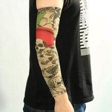 1pc Fashion Fake Mixed Nylon Fake Temporary Tattoo Sleeve Designs Art Arm Stockings Tatoo For Cool Men Women