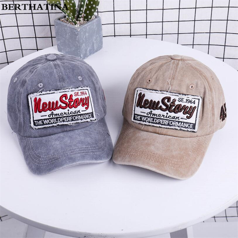 New Men Women Comfortable Adjustable Baseball caps Cotton Cowboy hat Embroidery Letters Fashion Hat
