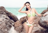 FREE SHIPPING NEW V High Quality Swimsuit Suit Woman Army Green Sexy Bikini Beach Swimwear Small